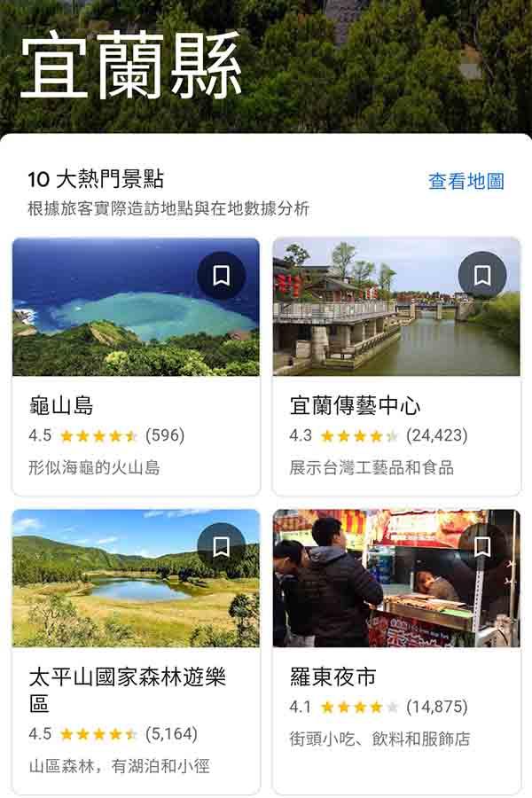國內台灣旅遊APP Google旅遊